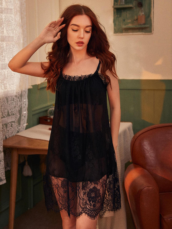 Floral Lace Cami Night Dress