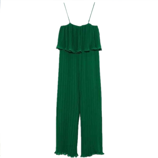 Women's Street chic / Punk & Gothic Green Jumpsuit, Solid Colored M L XL