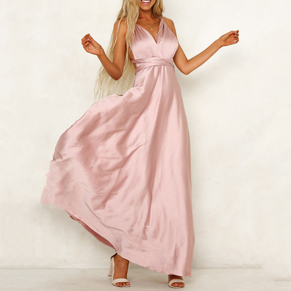 Women's Swing Dress - Solid Colored Blushing Pink Green S M L XL