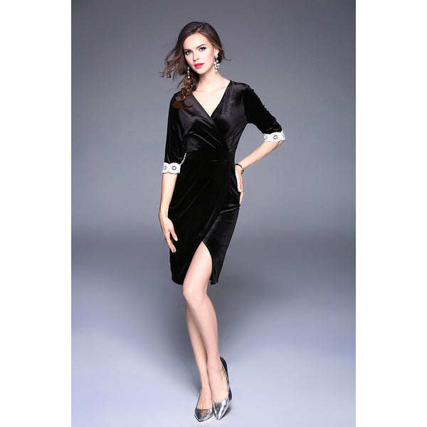 Women's Velvet Daily / Going out Sheath / Swing Dress