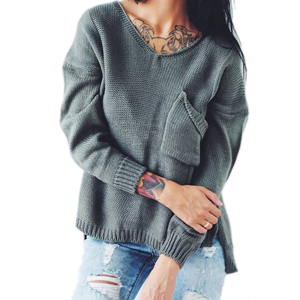 Women's Daily / Going out Solid Colored Long Sleeve Regular Pullover, Round Neck Fall / Winter Cotton