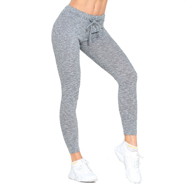 Women's High Rise Yoga Pants Solid Color Running Fitness Gym Workout Bottoms