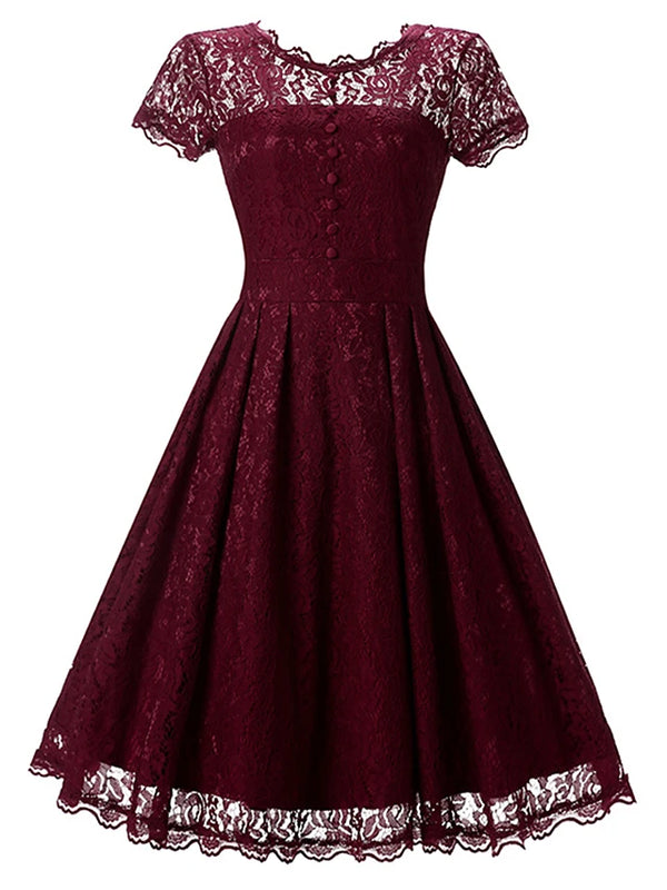 Women's Lace Party Holiday Going out Vintage Sophisticated A Line Dress