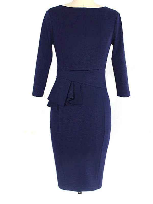 Women's Basic Slim Sheath Dress