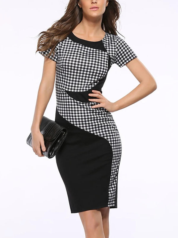 Plus Size Party Daily Street chic Sheath Dress