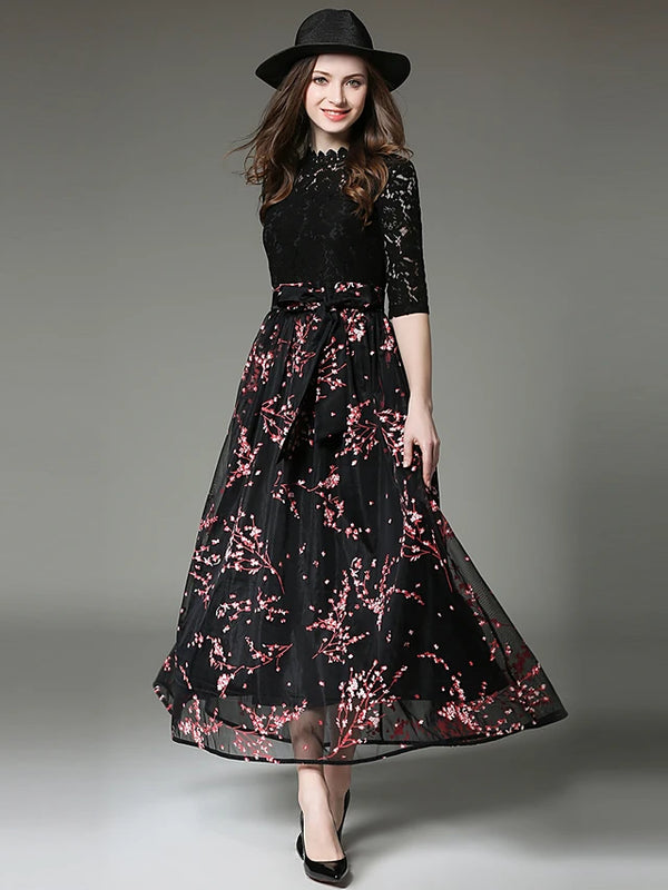 Women's Lace Party / Going out Street chic / Sophisticated Maxi Swing Dress