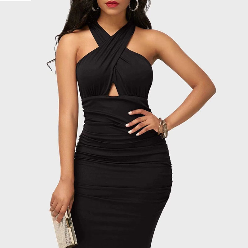 Sexy mini dress for women bodycon strap casual dress with sleeveless|Dresses|