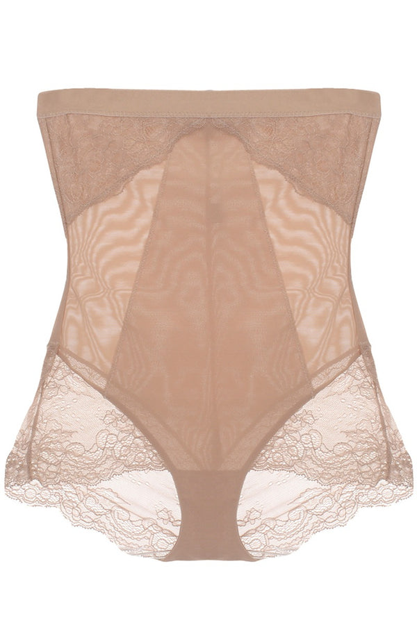 Mesh With Floral Lace Shapewear