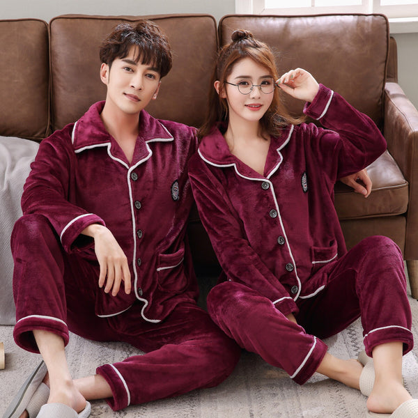New Home Couple Sleepwear 2019 Long Sleeve