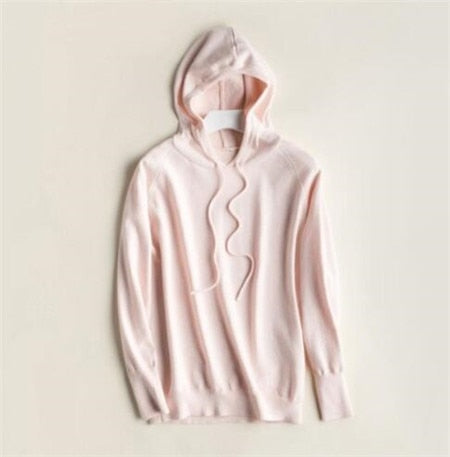 Fall Winter Girls Knit Pullover 30% Wool Hooded Sweater High Street Candy Women
