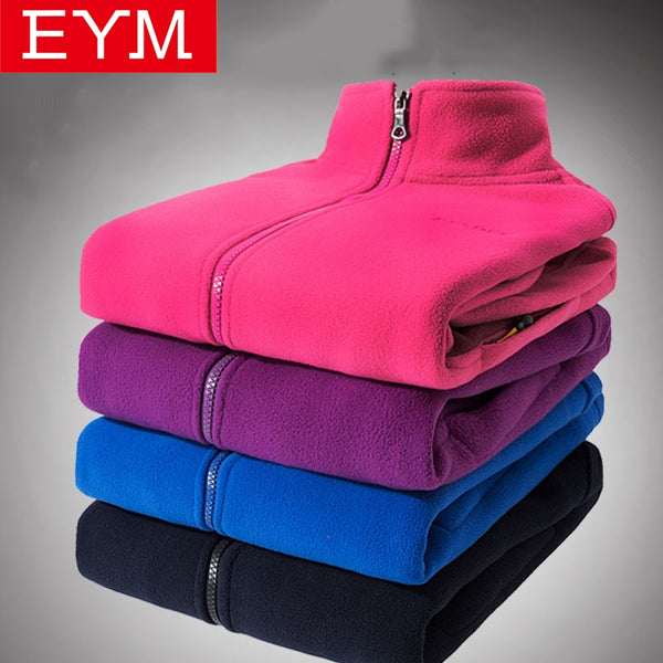 New Arrival Autumn Winter Women Fleece Sweatshirts Long Sleeve Running Style Solid Color Warm Coat Female Zip up Clothes