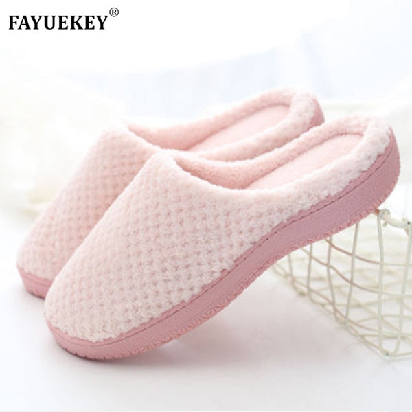 Winter Women Coral Fleece Memory Foam Coquette Home Slippers Fuzzy Plush Lining for Indoor & Outdoor