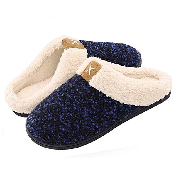 Women Cozy Memory Foam Slippers House Indoor Outdoor Anti-Skid Shoes