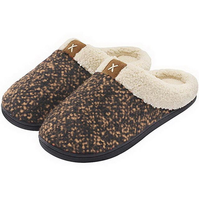 Women Slippers Comfort Slip On Memory Foam Anti-Slip Winter Indoor Outdoor Slippers