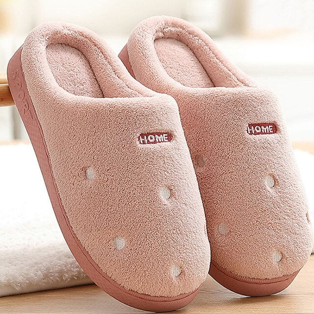 Large Size 53-56 Women Fur Slippers Casual Solid Suede Beautiful Winter Slippers Memory Foam
