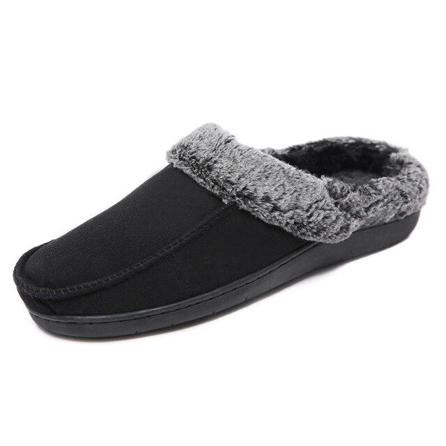 Winter Warm Faux Fur Women Slippers Indoor  Memory Foam Slippers