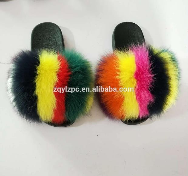 Indoor Warm Women Slippers  Winter Fur Home Shoe Female Girl Nonslip Memory Foam Slippers