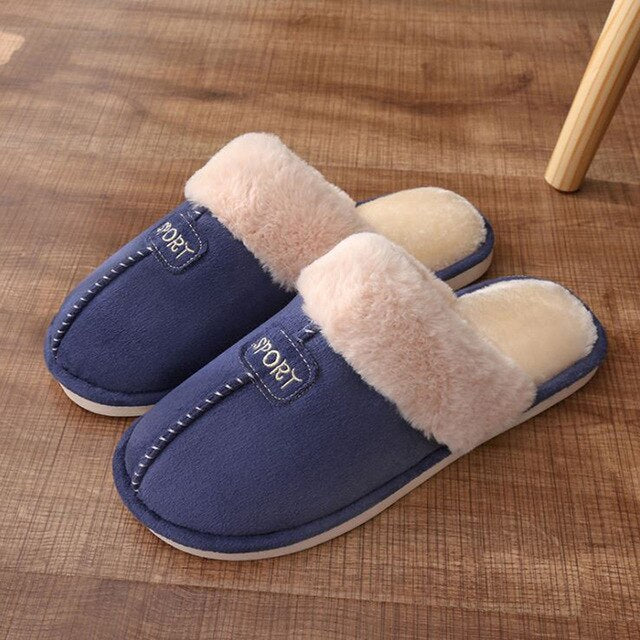 Women House Slippers  Coral Fleece Memory Foam Indoor Slippers
