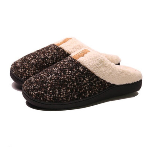 Faux Fur Women Slippers Warm Indoor Winter Memory Foam Plush Flat slippers