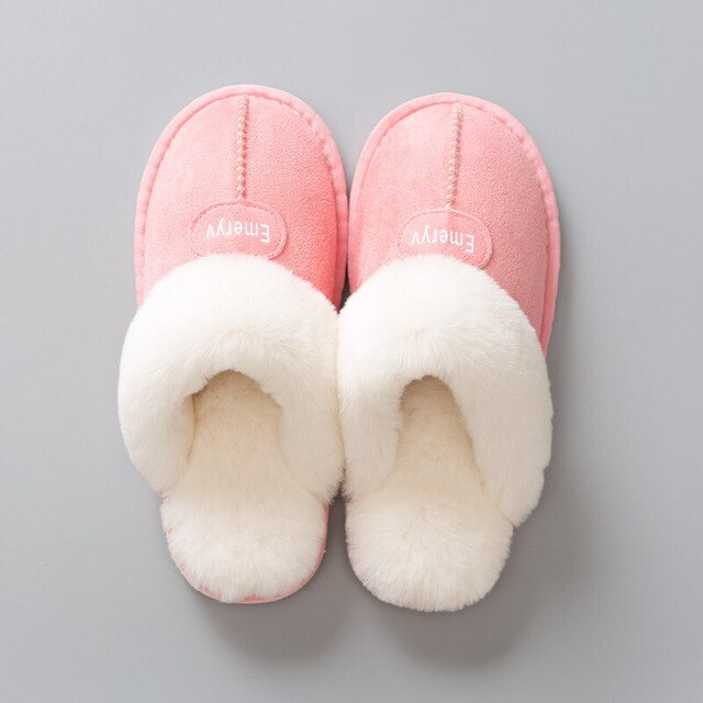 Women House Slippers Plush Winter Warm  Woman Comfort Coral Fleece Memory Foam Slippers