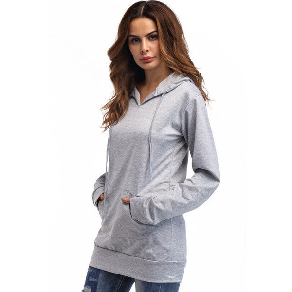 Autumn Classic Women Casual Hoodies Sweatshirts Loose Fit Solid Hip Hop Boyfriend Tops  Long Sleeve Cap Pullover Streetwear Top