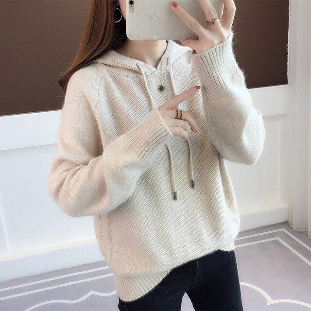 KMETRAM Knitted Sweater Women Tops Spring Autumn Vintage Women Clothes 2019 Korean Pullover Pink Sweaters Pull Femme MY2517