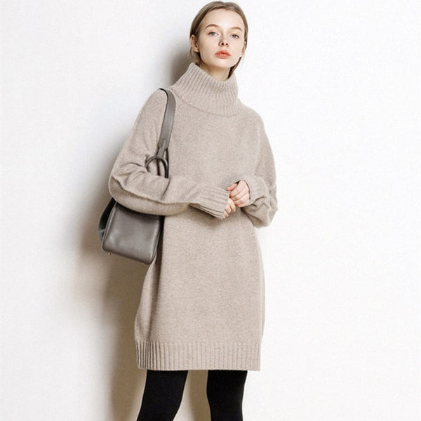 Litvriyh winter lady turtleneck cashmere knitted sweater women pullover long sleeve thick pullover women sweaters and pullovers
