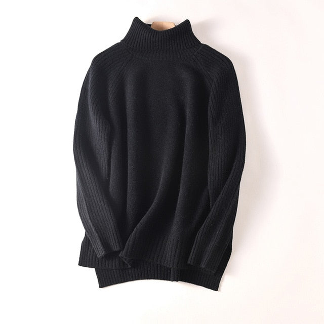 Litvriyh cashmere sweater women pullover long sleeve turtleneck soft female pullover women sweater knitted pull femme jumper top