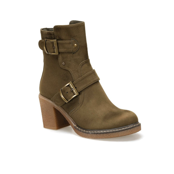 Khaki Women 's Heels Shoes BUTIGO Boots