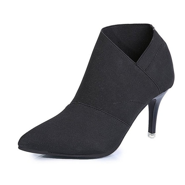 Women shoes Winter Autumn Casual High Heels Pumps Warm Ankle boots