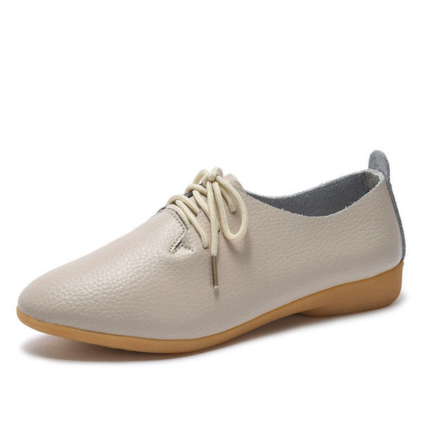 Women flats oxford shoes leather casual loafers