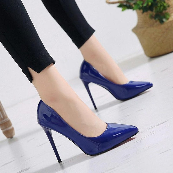 Women Pumps High Heels Shoes Stiletto Pointed Toe  Party Shoes  Wedding Party Plus