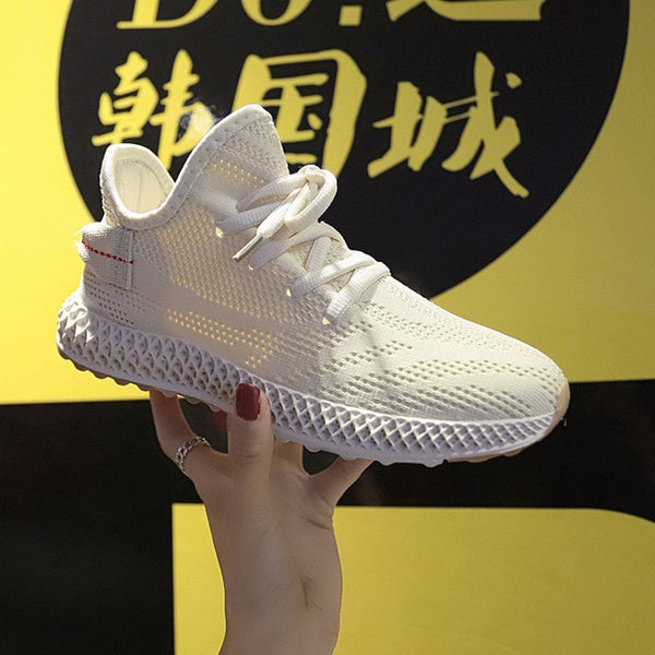 New Summer Mesh Breathable Women Sneakers Fashion Thick Bottom Platform  Casual Shoes