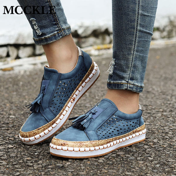 Sneakers Women Shoes Slip On Hollow Out Flats  Loafers Casual Shoes