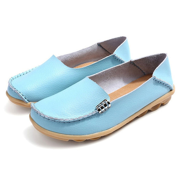 Flats Slip On Women Loafers Soft Moccasins With Genuine Leather