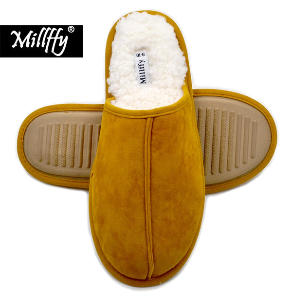 Cashmere Cozy slippers women Comfort Memory Foam Slippers scuff Fluff Slippers