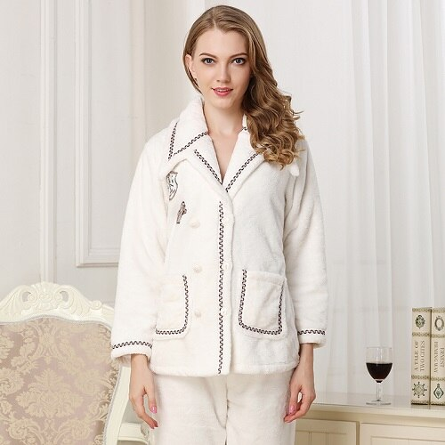 Women Pajama Sets  Warm Pyjamas   Sleepwear  female pajama