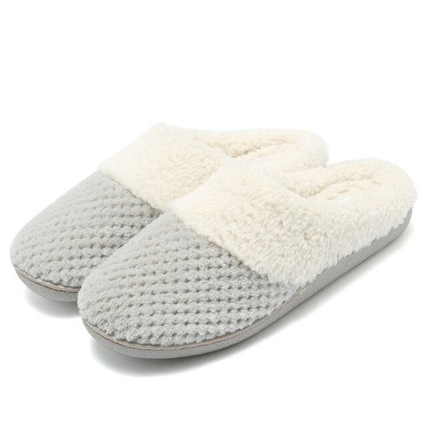 Indoor Outdoor  Women's Comfort Memory Foam Slippers Fuzzy Plush Lining Women Slippers