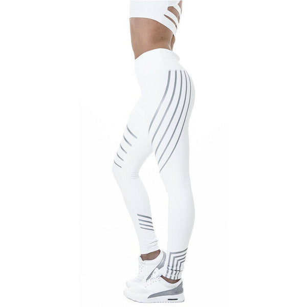 Women Yoga Leggings Fitness Gym Reflective Pants Running Jogging Sports Trousers