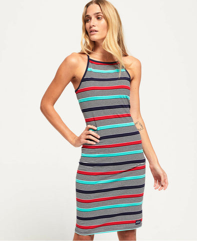 Superdry Womens Strappy Stripe Midi Dress