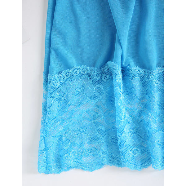 Women's Sexy Babydoll & Slips / Ultra Sexy Nightwear - Lace Solid Colored Blue