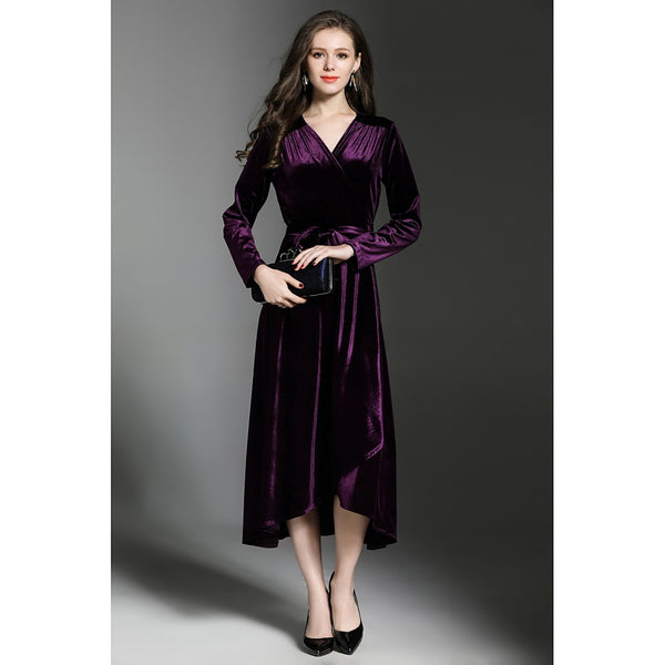 Women's Velvet Party / Work Vintage A Line / Shift / Sheath Dress
