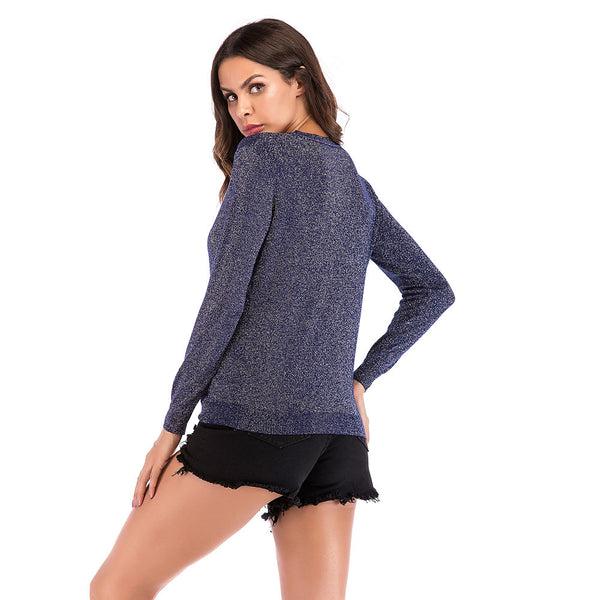 Women's Daily Basic Solid Colored Long Sleeve Regular Pullover, Round Neck Fall / Winter