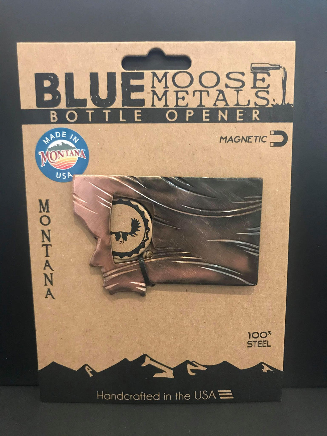 BLUE MOOSE METALS BOTTLE OPENER