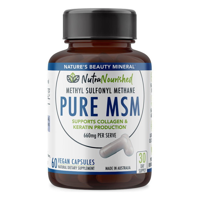Pure MSM (Methyl Sulfonyl Methane) - 660mg - 60 Vegan Capsules