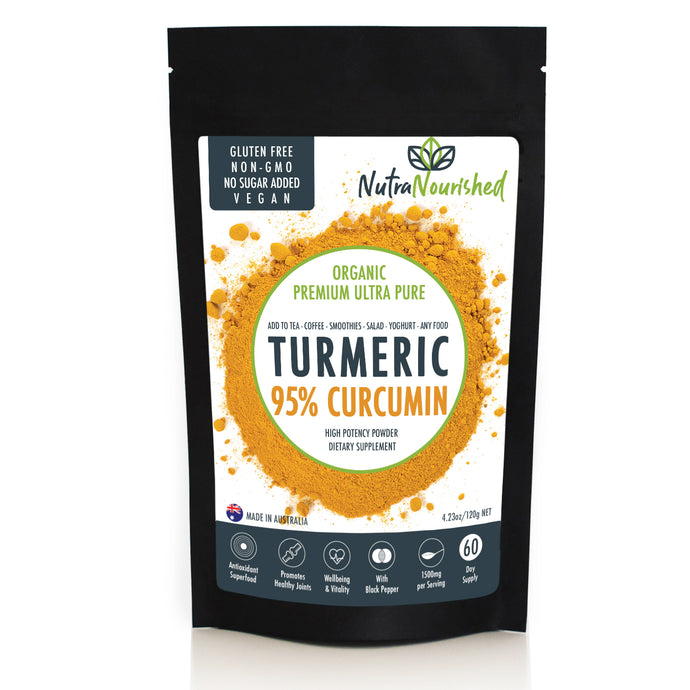 95% Curcumin Turmeric Extract Powder - Pure (1,000mg), w/ Black Pepper