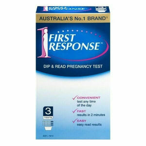 First Response Dip & Read Pregnancy Test - 3 x Test Pack - Fast Easy Accurate