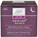 Boots Laboratories Serum 7 Renew Restoring Night Cream Improves Firmness 50mL