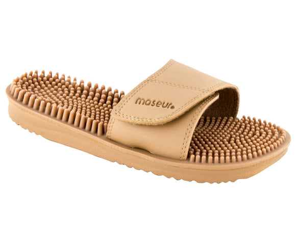 Maseur Invigorating Reflex Zone Massage Sandal Beige SIZE 8