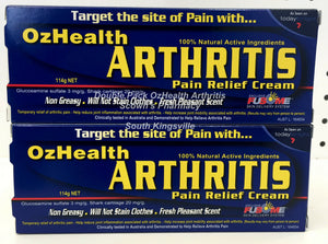2 x Genuine OzHealth Arthritis Pain Relief Cream 114g Glucosamine Plus Vitamin E